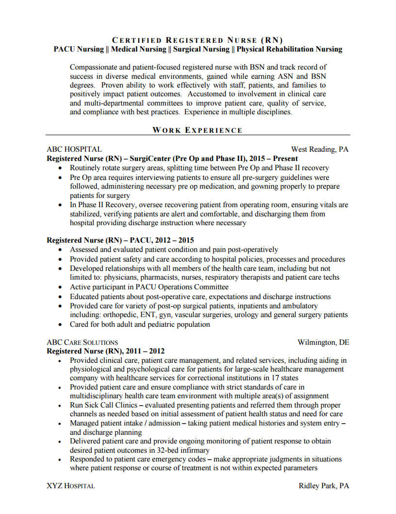 before and after resume examples